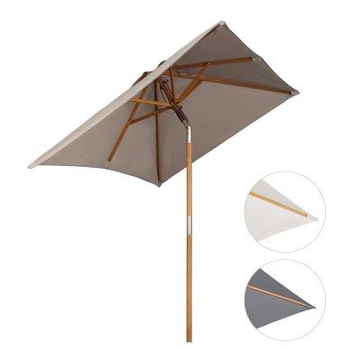 Sekey® 200 × 150 cm Parasol en bois inclinable